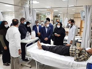 بازدید دکتر جان بابایی از بیمارستان سیدالشهدا آران و بیدگل