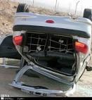وازگونی یک دستگاه خودرو در منطقه مرنجاب حادثه آفرید